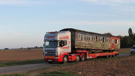The NER carriage heads home