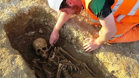 The skeletons were uncovered in Exning.
