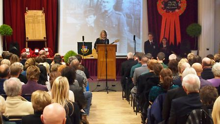 Cromwell Community College Remembrance service.