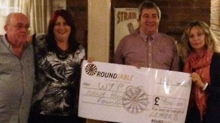 The Letter B raised £900 for the charity.