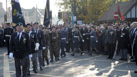 Remembrance Sunday at the March War Memorial in 2011.