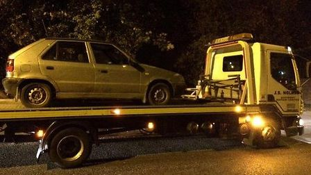 Seized by Cambs Police from The Causeway, March