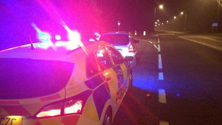 Cambs Police stopped this motorist on the A141 for speeding - police say he was travelling at 100mph