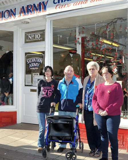 Salvation Army shop in Union Street, Wisbech was broken into.Thieves smashed through roof of the cha
