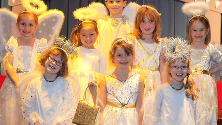 The angels who lead the groups bearing gifts from the different countries to the manger. Picture: Ti