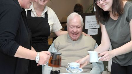 Royal Exchange Tea Parlour, March. ALS Food and Pharmaceutical of Chatteris set up a charity day whe