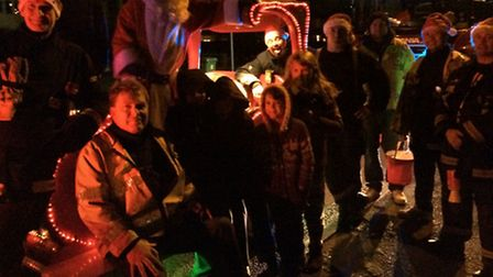 Thorney firefighters' Christmas float