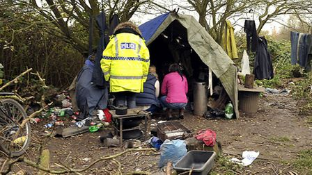 Operation Pheasant, Four people were found living in a tented encampment in the Wisbech area.
