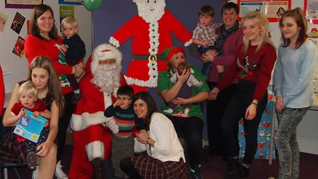 Students staged a Christmas party.
