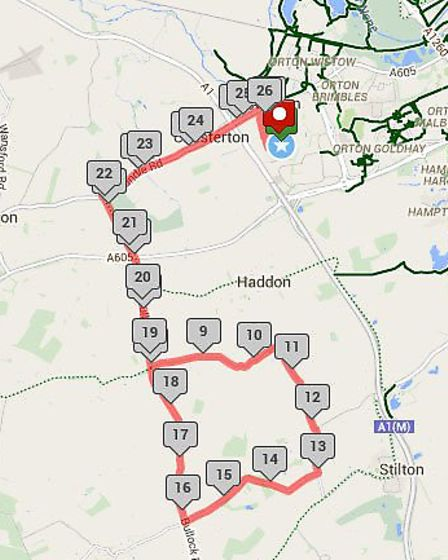 The time trial route.