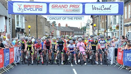 Whittlesey was packed for this year's Circuit of the Fens. Picture: Steve Williams.