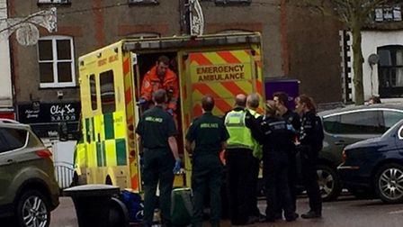 Man collapses in March market place