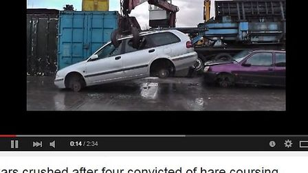 Hare coursing car crushed video