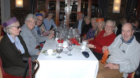 Members of the Stroke Group enjoyed a Christmas lunch in Hatfield Heath