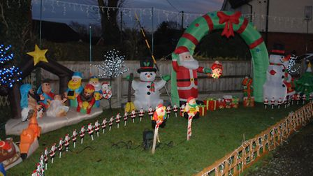Lynn spends three to four days putting the festive spectacle together.