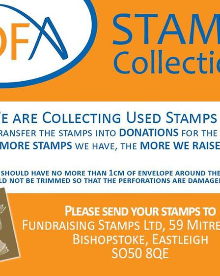 Stamp collecting for Effie Hadman
