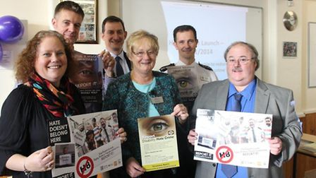 (left to right): Debbie Charles, Dan Pawson, Phil Merriam, Kay Mayor, Mike Hills, David Oliver