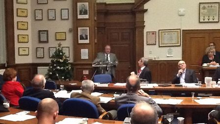 Cllr David Oliver announces the £48,000 DWP grant to save Community House