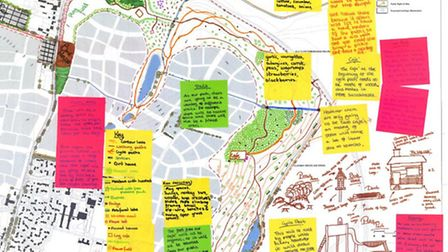 The North Ely masterplan, featuring the pupils' ideas.