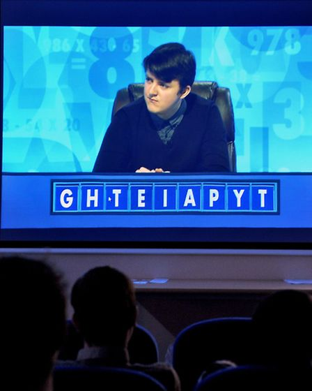 Sir Harry Smith community college 6th form watching student George Ford on Countdown. Picture: Steve