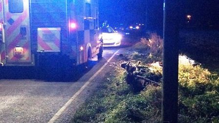 Police and paramedics attended the scene of the collision at Padgett's Road, Christchurch, at 4.50pm