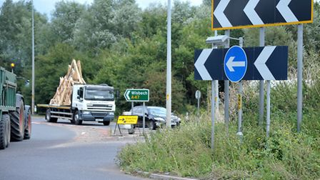 A47 Guyhirn roundabout. Picture: Steve Williams.