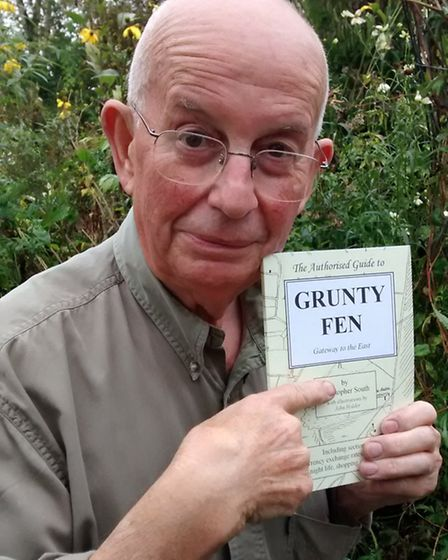 Dennis of Grunty Fen: Christopher South with his 'guide' to Grunty Fen