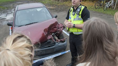 Students from Ely Sixth Form College have been given an insight into the dangers of drink and drugs