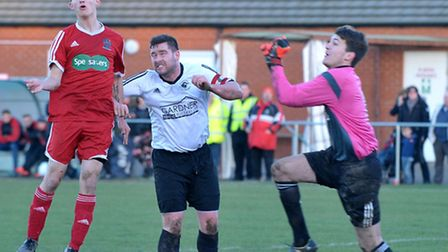 Wisbech Town vs Bugbrooke St Michael's knockout cup. Picture: Steve Williams.