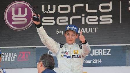 George Russell won the second race of the Formula Renault 2.0 Eurocup round in Jerez, Spain, in Octo