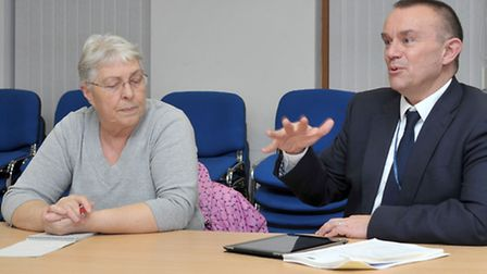 Sandra Rylance, Chair of Adult social care committee, Cambs County Council and Adrian Loades, Execut