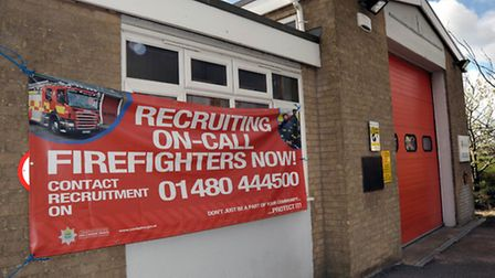 Manea fire station recruiting on-call firefighters.