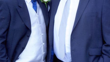 Andy Lee with his son Mark, at his wedding.