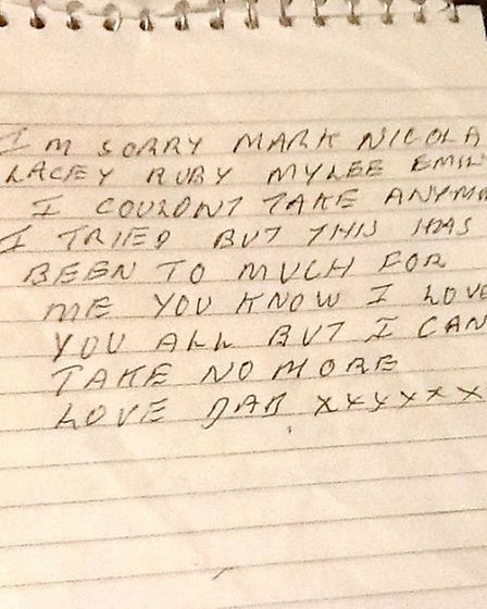 One of Andy Lee's suicide notes.