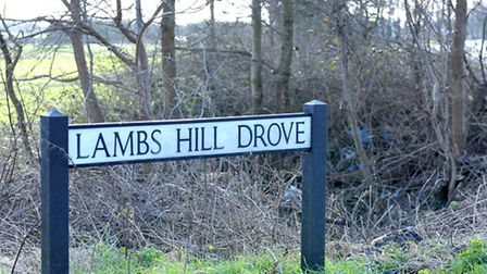 Fly Tipping in Lambs Hill Drove.March.
