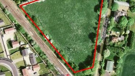 An aerial view of the proposed site.