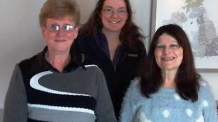 From left: Rosemary Westwell, Mary McGuire and Hayley Humphrey