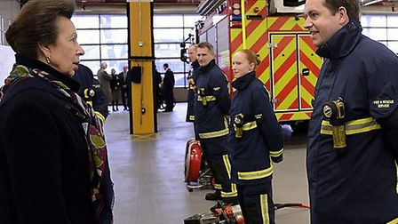 The Princess Royal visits Parkside Place Cambridge. To officially open Cambridgeshire Fire and resc