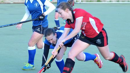 Wisbech ladies v Lincoln hockey.Picture: Steve Williams.
