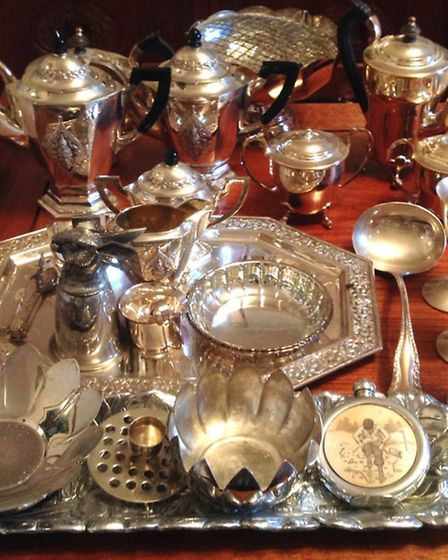 Some of the silverware stolen from Coton.