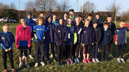 March AC's junior runners.
