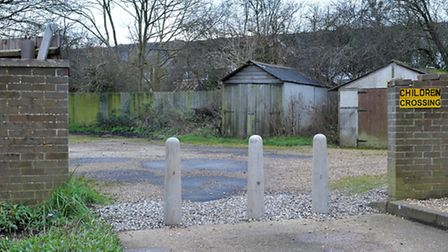 Bollards installed at Fen View Chatteris. Picture: Steve Williams.