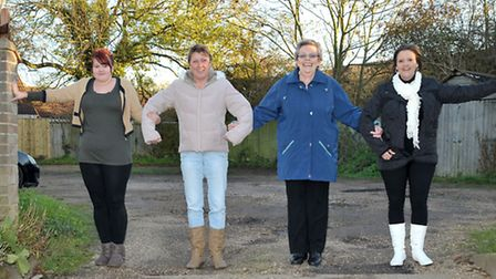 Residents object to FDC homes plans in Fenview, Chatteris. Left Residents: Amy Stevenson, Paula Jack