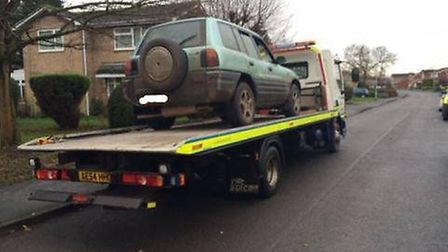 The car seized by police.
