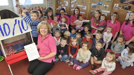 Little Teds Nursery, in Haddenham, received a good Ofsted report, (front) Manager Jane Blackmore,