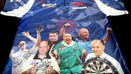 PDC signed darts shirt (front)
