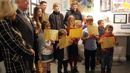 Some of this year's winners at the Babylon Gallery, in Ely.