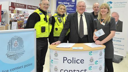 Police Contact Point meeting, Tesco, Wisbech. Pcso David Russ, Pcso Megan Sargent, Police and Crime
