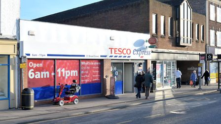The post office inside this Tesco Express is one alternative banking provision available to customers from Barclays.
