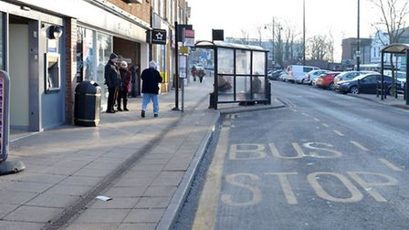 Parking outside the March post office.Picture: Steve Williams.